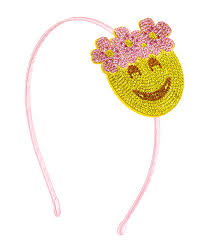 yellow headband bari floral halo emoji headband yellow