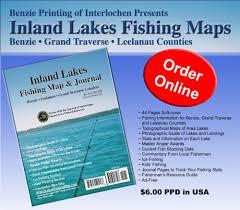 Michigan Dnr Lake Maps by Inland Lakes Fishing Map