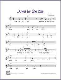 free printable sheet music for xylophone down by the bay free sheet music lead sheet makingmusicfun net