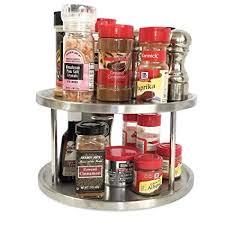 100 lazy susan organizer for kitchen cabinets colors amazon com interdesign kitchen lazy amazon com lazy susan 10 inch two tier turntable spice rack cabinet
