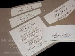 pocket invites kraft eco rustic pocketfold invitation sle wedding birthday