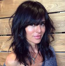 lob hairstyles with bangs medium haircuts with layers and bangs