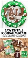 diy fall football wreath tutorial for your home easy to make