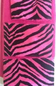 Zebra Print Bathroom Ideas Colors Pink Zebra Print Bathroom Towel Set Piece Bath Towel Set Black