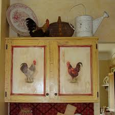 Crackle Kitchen Cabinets The Decorating Diaries Rooster Party