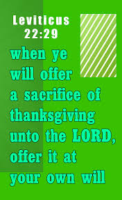 leviticus 22 29 and when ye will offer a sacrifice of thanksgiving
