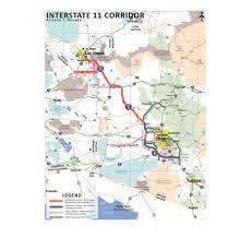 Interstate 10 Map Transportation Bill Moves I 11 Closer To Reality Arizona