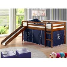 Twin Size Bed For Toddler Donco Kids Twin Size Tent Loft Bed With Slide Free Shipping