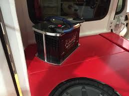 custom jeep red restored custom jeep dj mail delivery vehicle quadratec