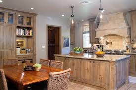 oak kitchen cabinets ideas kitchen rustic with accent lighting