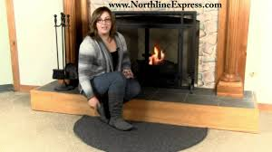 andiron 4 u0027 half round black wool fireplace rug youtube