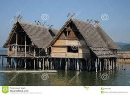 House Plans On Stilts by Stilt House Pile Dwelling Palafitte Stock Images Image 34258764