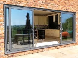 Patio Doors Sliding 96 Inch Sliding Patio Doors 3 Panel Door 4 Glass Energy Efficient