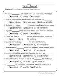 verb tenses worksheet 1