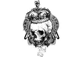 skull with crown free vector stock graphics images