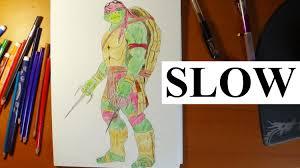 draw ninja turtles raphael movie 2014 slow step