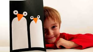 christmas crafts for kids christmas penguin card youtube
