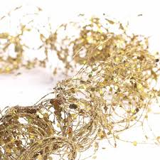 gold glitter and sequin twisted wire garland anniversary 25th