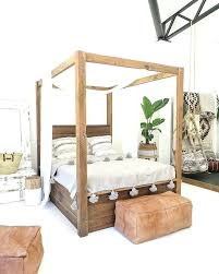 wooden post bed frame u2013 vansaro me