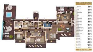 apartment magnificent luxury 4 bedroom apartment floor plans