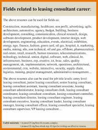 10 leasing consultant careers bibliography apa