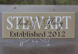 wedding gift signs personalized family name sign wood sign with established date