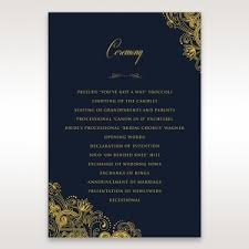 Ceremony Cards F Order Of Service Cards U2013 Matching Wedding Stationery