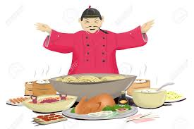 cuisine concept cuisine concept with chef in traditional clothing stock