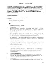 doc 838541 company contract template u2013 business contract