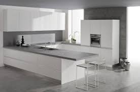 Modern White Kitchen Cabinets Wonderful Minimalist Attic Design - Modern kitchen white cabinets