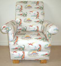 Childs Armchair Dinosaur Fabric Fabric Mince His Words