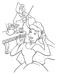 cinderella coloring pa coloring pages