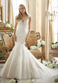 diamante beading on net with lace appliques wedding gown style