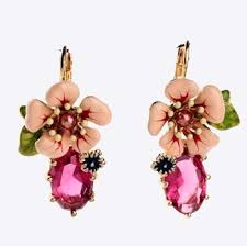 fabulous earrings fabulous pink enamel flower earrings expensive no
