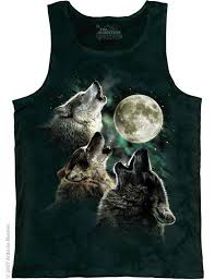 three wolf moon adults singlet the mountain wolves collection