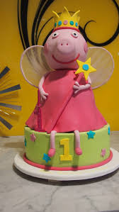 peppa pig birthday cakes single tier birthday cake peppa pig the delicious biscuit
