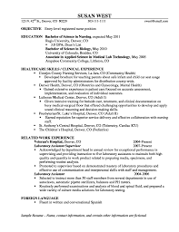 entry level nursing resume resume for your job application
