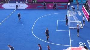 Paralympics Blind Football Paralympics Blind Football Warm Up London 2012 Youtube