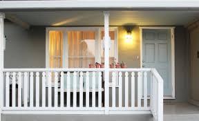 gray front door transitional porch benjamin moore sage mountain