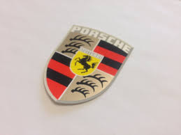 porsche logo nos porsche crest decal aase sales porsche parts center