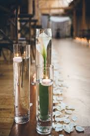 Vases With Flowers And Floating Candles Jewish Wedding With Rustic And Elegant Design Elements In Chicago