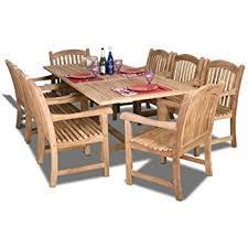 Teak Dining Room Furniture by Amazon Com New 9 Pc Luxurious Grade A Teak Dining Set 94