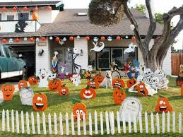 Lighted Halloween Outdoor Decorations by Halloween Outdoor Decorations For Strange Look The Latest Home