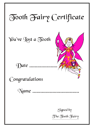 10 best images of tooth fairy certificate template free tooth