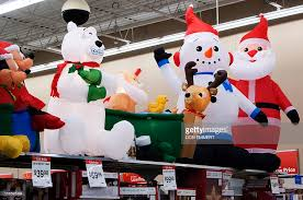 decorations are displayed at a walmart store on november