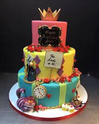 Tropical Theme Birthday Cake - alice in wonderland birthday jpg