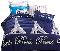 Travel Duvet Cover Trendy Navy Blue Paris Travel Themed Queen Duvet Cover