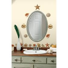Mirror Decals For Bathrooms - roommates sea shells peel and stick wall decals walmart com