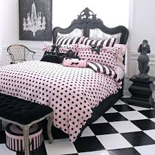 Pink Black U0026 White Teen by Pink And Black Duvet Covers Black And White Rug Idea Room Views