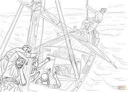 jesus sleeping in the boat coloring page free printable coloring
